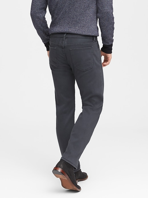 Slim Gray Wash Japanese Traveler Jean