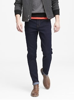 Athletic Tapered Rapid Movement Denim Stay Blue Jean