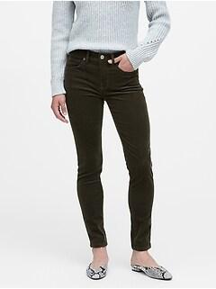 Petite Mid-Rise Skinny Corduroy Pant