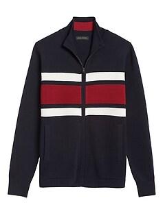 Merino-Blend Sweater Jacket