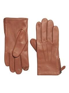 Moto Zip Leather Glove