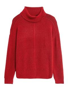 Petite Merino-Blend Funnel-Neck Sweater