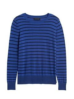 Petite Silk Cashmere Stripe Sweater
