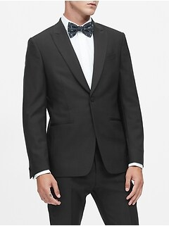 Slim Italian Wool Tuxedo Jacket