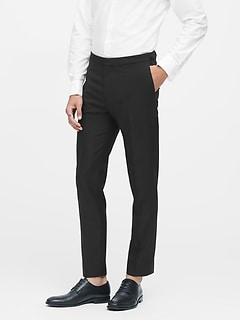 Slim Tapered Italian Wool Tuxedo Pant
