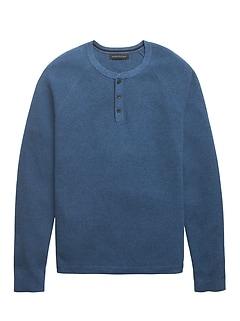 Organic Cotton Henley Sweater