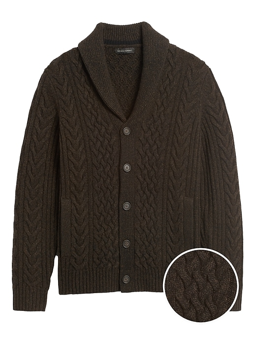 Cable Knit Cardigan Sweater by Banana Repbulic
