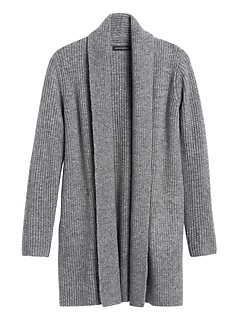 Petite Merino-Blend Long Cardigan Sweater