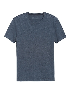 T-shirt ras du cou au fini soyeux