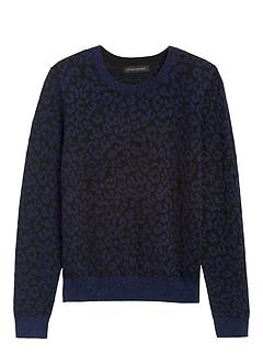 Petite Metallic Leopard Sweater
