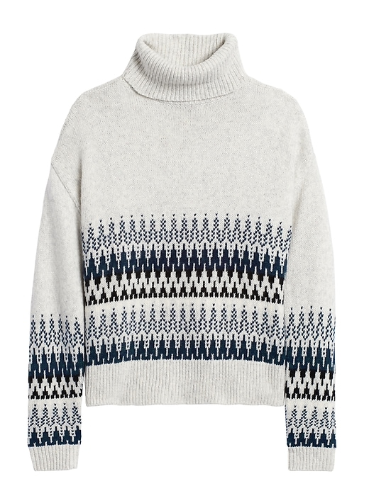 Petite Fair Isle Turtleneck Sweater by Banana Repbulic