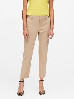 Petite Avery Straight-Fit Flannel Ankle Pant