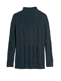 Cable-Knit Tunic Sweater