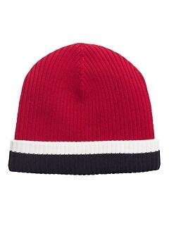 Bonnet en tricot à rayures de ski