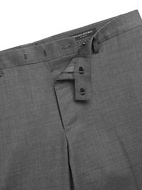 Slim Italian Sharkskin Suit Pant