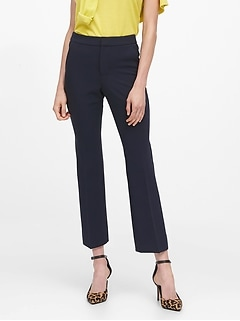 High-Rise Crop Flare Pant