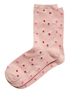 Holiday Lights Crew Socks