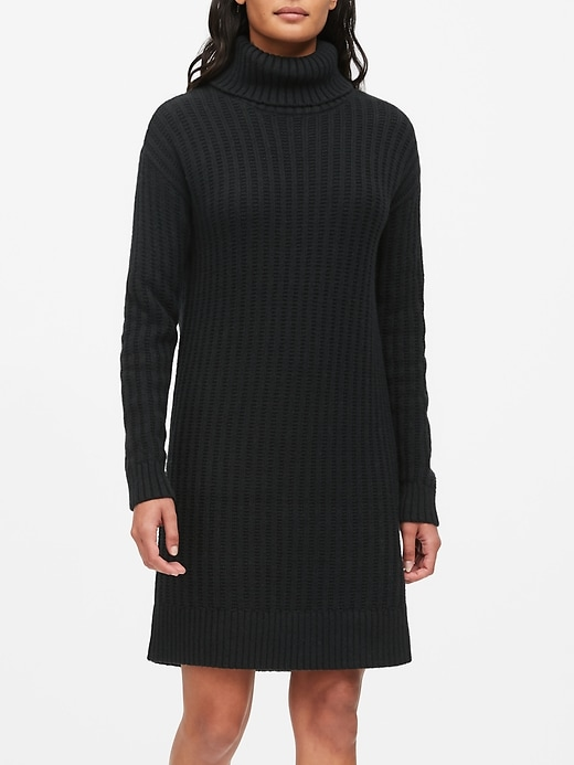 Chunky Turtleneck Sweater Dress by Banana Repbulic