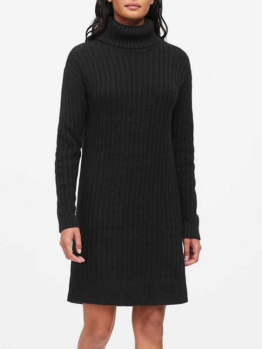 Chunky Turtleneck Sweater Dress by Banana Repbulic