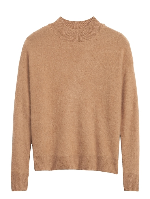 brushed-cashmere-mock-neck-sweater by banana-repbulic