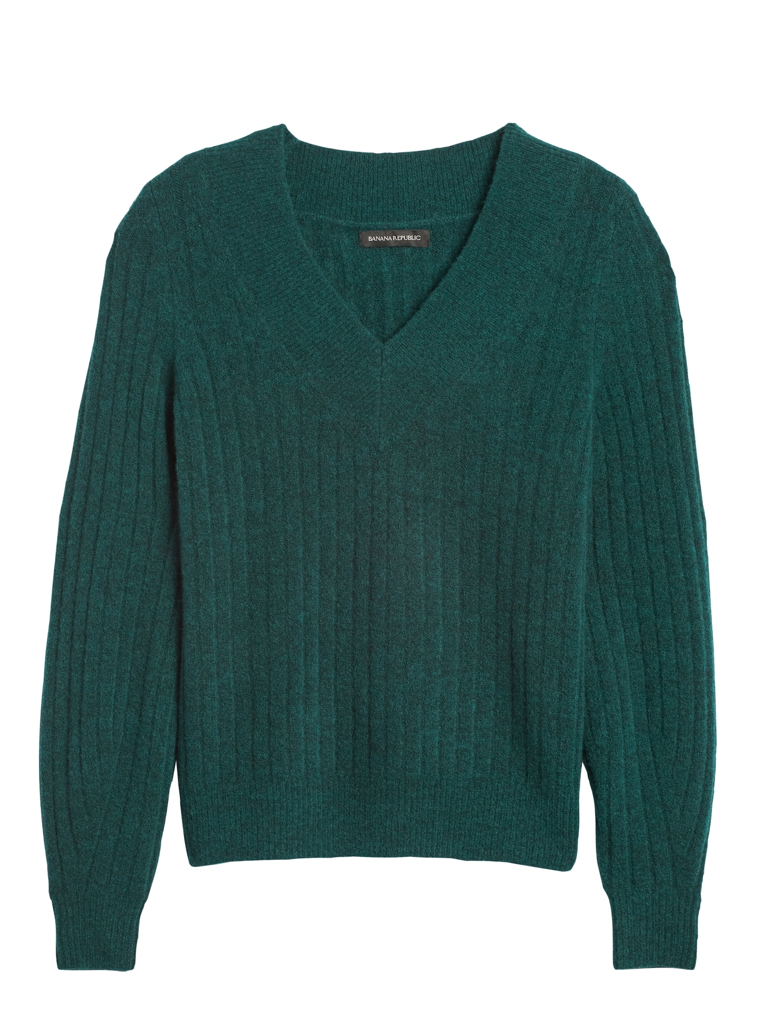 Aire Ribbed V Neck Sweater by Banana Repbulic
