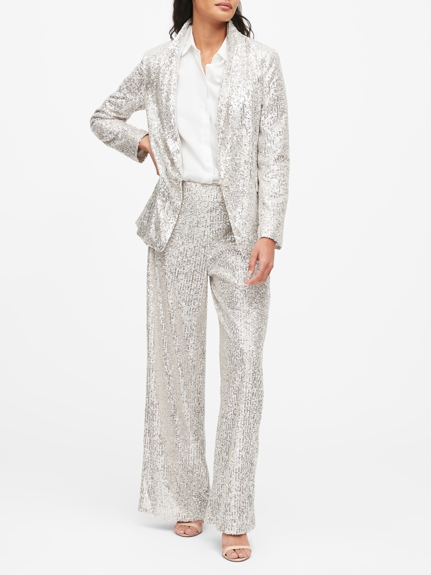 Soft Sequin Blazer by Banana Repbulic