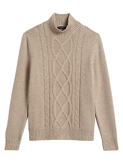Wool-Blend Mock-Neck Sweater