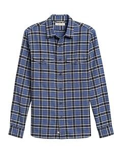 Heritage Slim-Fit Flannel Shirt Jacket