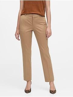 Ryan Slim Straight-Fit Flannel Ankle Pant