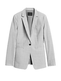 Long and Lean-Fit Washable Wool-Blend Blazer