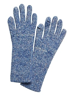 Ribbed Knit Texting Gloves