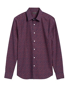 Untucked Slim-Fit Non-Iron Dress Shirt