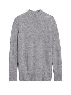 Petite Aire Mock-Neck Sweater Tunic