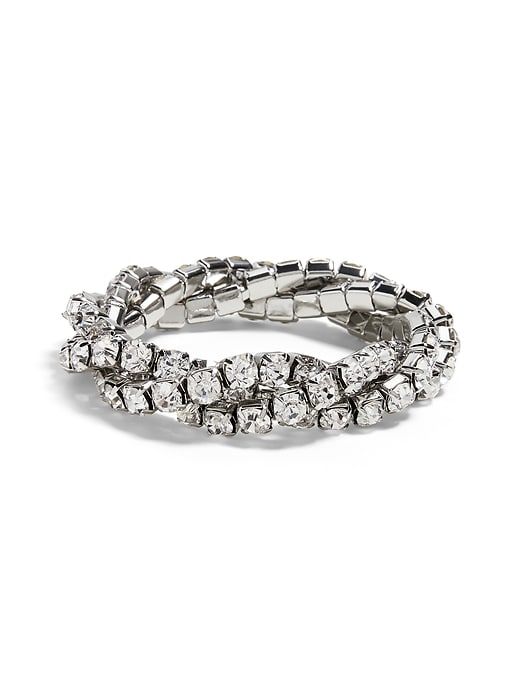Twisted Rhinestone Stretch Bracelet