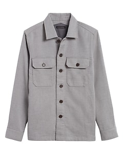 Slim Double-Weave Shirt Jacket