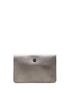 Metallic Leather Passport Case