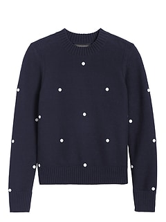 Petite Supersoft Cotton Embroidered Sweater