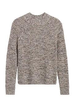 Marled Mock-Neck Sweater