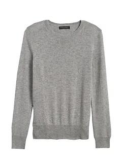 Petite Cashmere Crew-Neck Sweater
