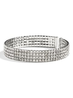 Glitz Holiday Thin Cuff Bracelet