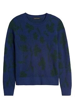 Metallic Floral Sweater