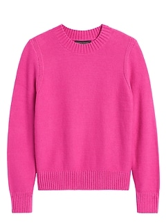 Petite Supersoft Cotton Crew-Neck Sweater
