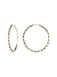 Wavy Large Hoop Earrings