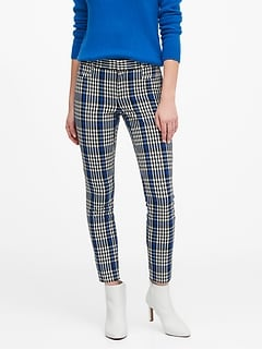 Modern Sloan Skinny-Fit Washable Plaid Pant