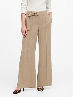 Pantalon militaire à jambe large et à taille haute, Petite