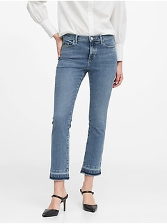 Mid-Rise Crop Flare Jean