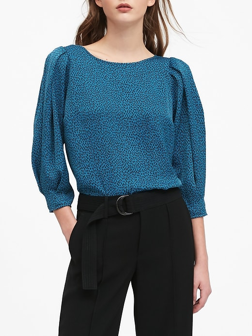 Puffy-Sleeve Blouse