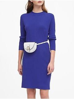 Mock-Neck Sweater Dress