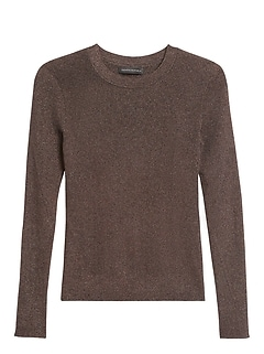 Petite Metallic Sweater Top