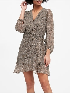 Ruffle-Wrap Dress